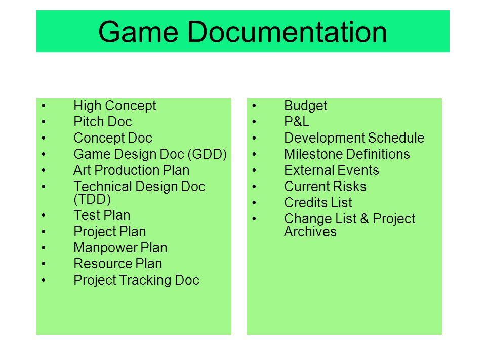 Image Result For Game Production Schedule Game Production Pinterest - High concept document game design