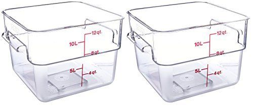 Cambro 12SFSCW135 CamSquare Food Storage Containers Set of 2 12