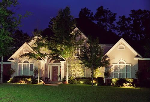 Exterior Landscaping Lighting Design For Front Yard House