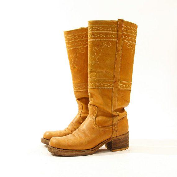 432e84523aa 70s FRYE Campus Boots   Brown Leather   Men s sz 7.5   Women s sz 9 ...