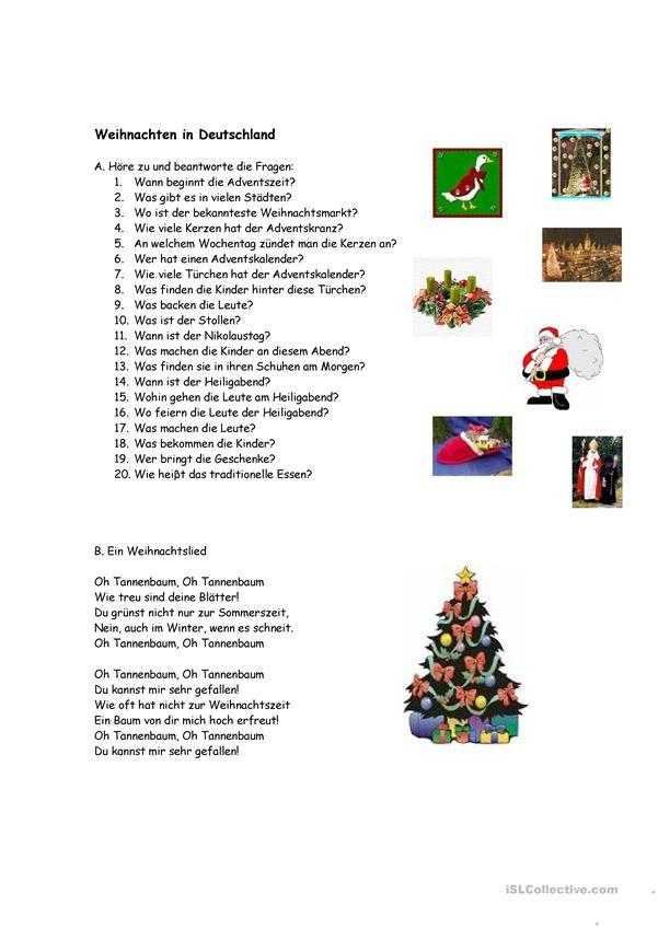 Weinachten in Deutschland | Weihnachten (Deutsch für Kinder ...