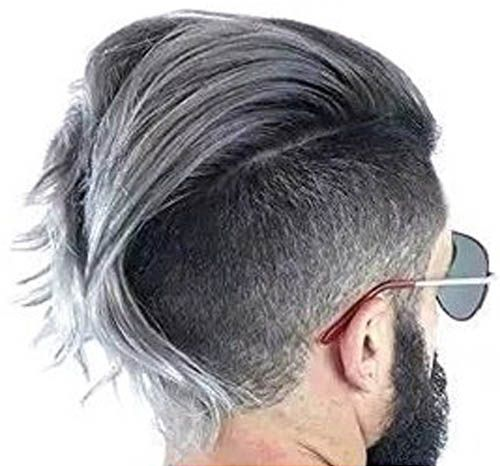 Grey Man Hairstyle Styling Coloring At The Same Time Natural Silver Ash Matte Hairstyle Wax For Guys Grey Hair Wax Mens Hairstyles Shampoo For Gray Hair