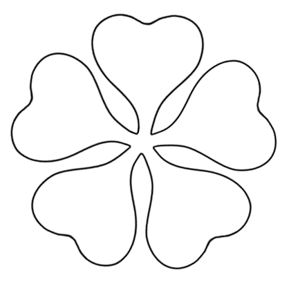 photograph regarding Printable Flower Pattern identified as printable flower template slash out - ClipArt Simplest - ClipArt