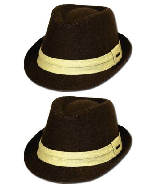 723084478d22f Sakkas EH7641F- Very Nice Unisex Fedora Hat- Brown S M