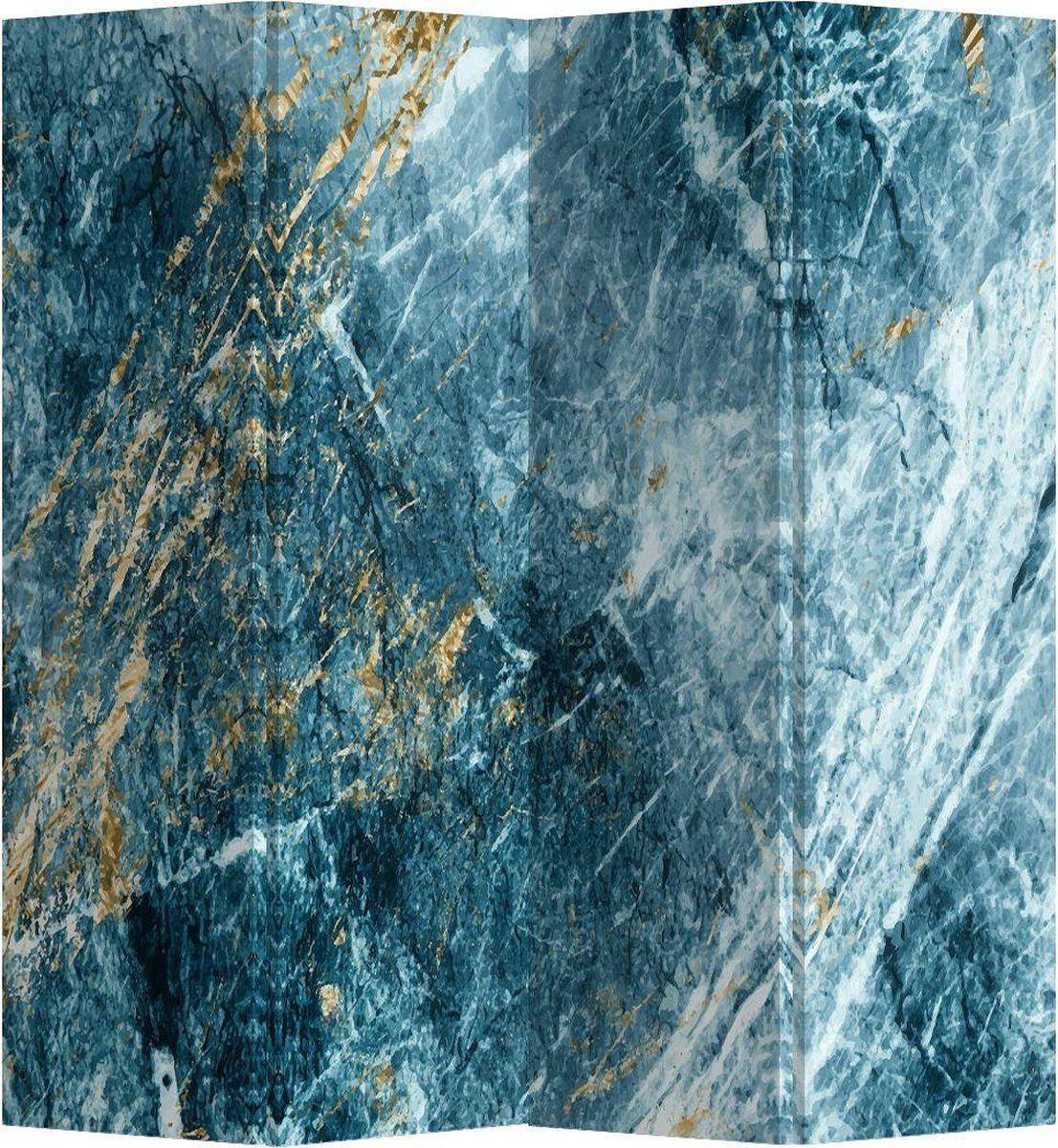 Fine Asianliving Faltwand Trennwand 4 Paneele Marble Heaven L160xH180cm