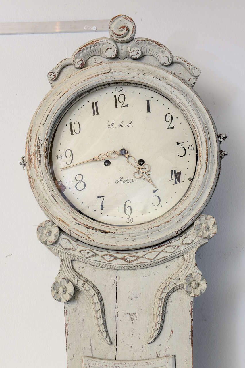 Antique Swedish Painted Mora Clock Early 19th Century Antique Clocks For Sale Clock Clock Painting