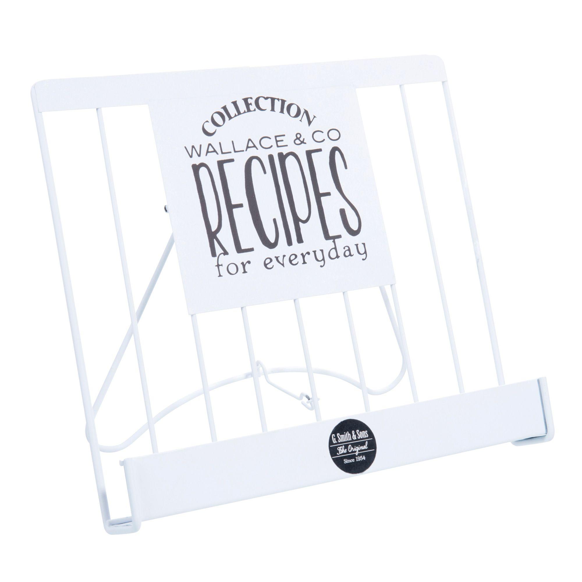 Lutrin de cuisine en m tal blanc 20 x 22 cm wallace for Maison du monde 22