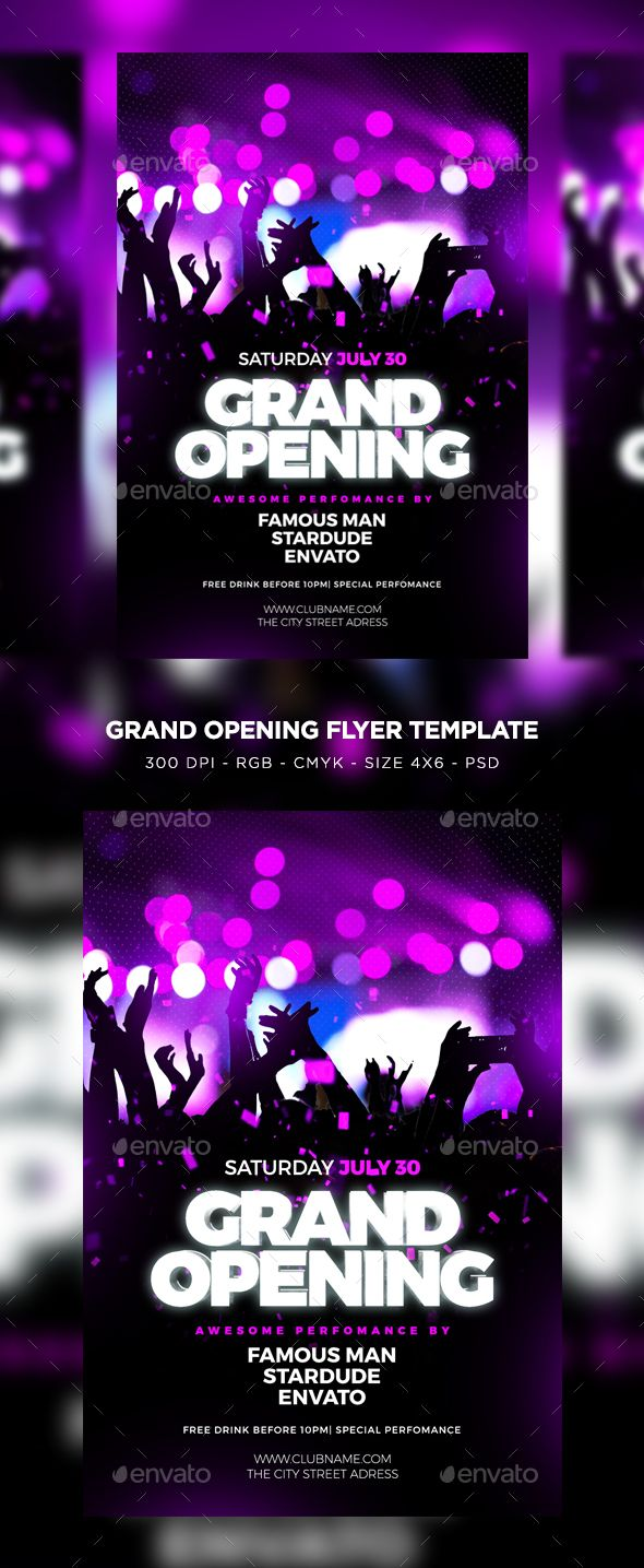 Pin By Maria Alena On Flyer Pinterest Grand Opening Flyer Size