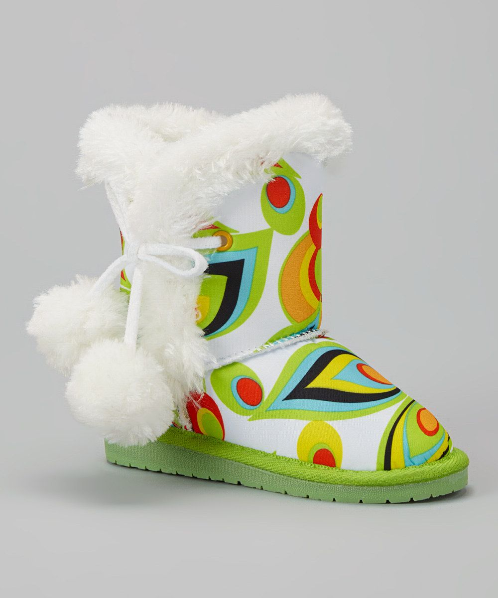 Look at this Green Shagadelic Pom-Pom Loudmouth Boot on #zulily today!