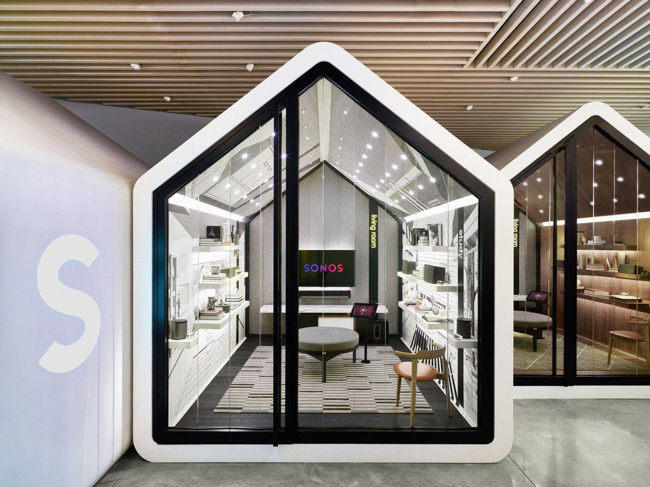Sonos-Listening-Room-2-Exterior - Design Milk   Retail design, Store design  interior, Retail interior