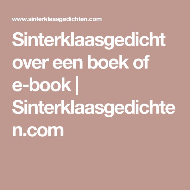 Sinterklaasgedicht Over Een Boek Of E Book