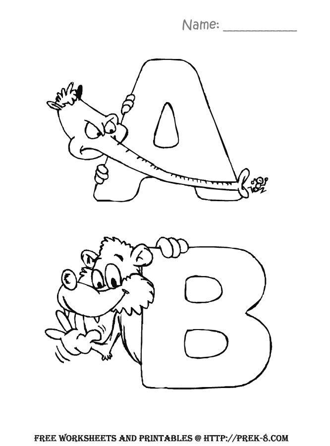 Preschool Back To School Activities free Alphabet zoo animals