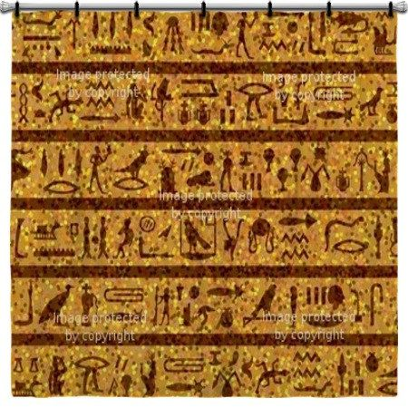 Ancient Egyptian Shower Curtain By Vividhomedecor On Etsy 99 97