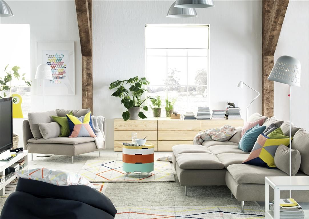 Soderhamn Sofa And Ikea Ps 2014 Storage Table Ikea Living Room Home Living Room Living Room Spaces [ 768 x 1082 Pixel ]