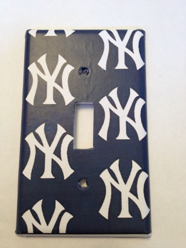 New York Yankees Light Switch Covers Baseball MLB Home Decor Outlet ...