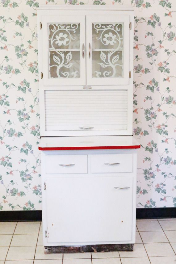 Scheirich Hoosier Style Kitchen Cabinet | Kitchen cabinet ...