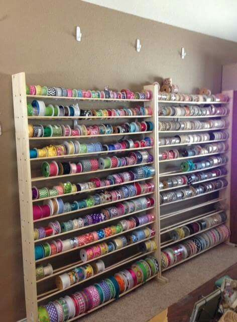 Ribbon Rack Storage Ribbon Storage Craft Room Office Craft Room Storage