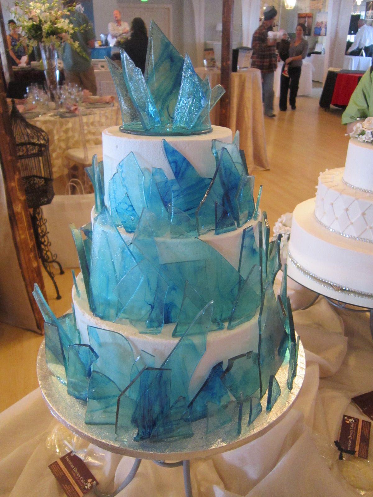 Wedding Cake With Isomalt Beach Glass Www