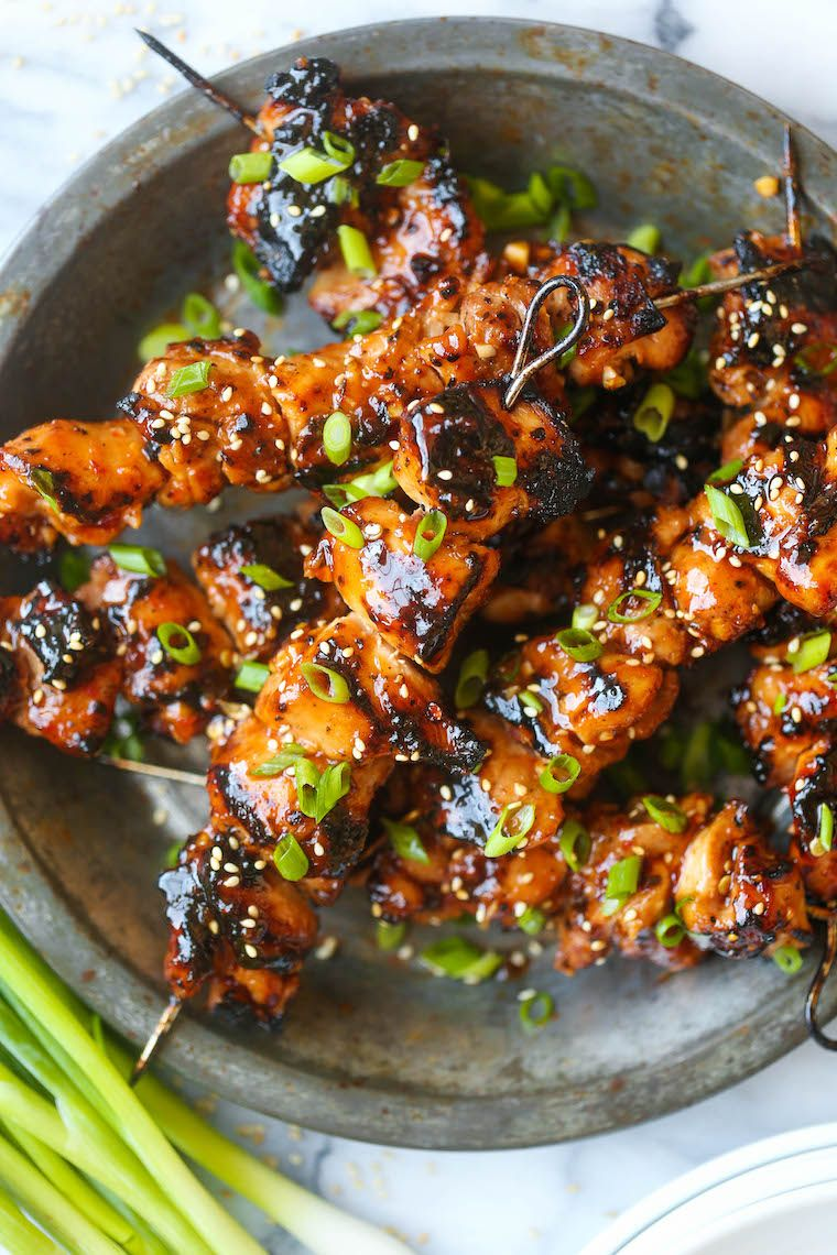 Honey Garlic Asian Chicken Kabobs
