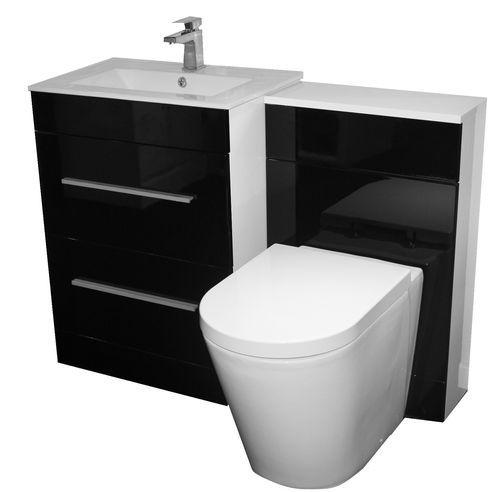 Designer Bathroom Vanity Unit Furniture Black Cistern Deca Toilet 1300mm Ebay Bathroom Vanity Units Toilet And Basin Unit Bathroom Design
