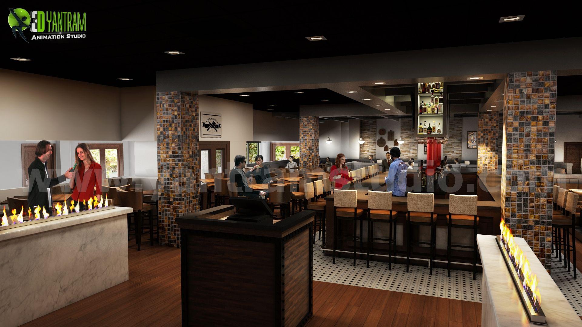 #Inspiring #Restaurant #Bars Modern Design By Yantram 3d Interior Modeling  Morocco.
