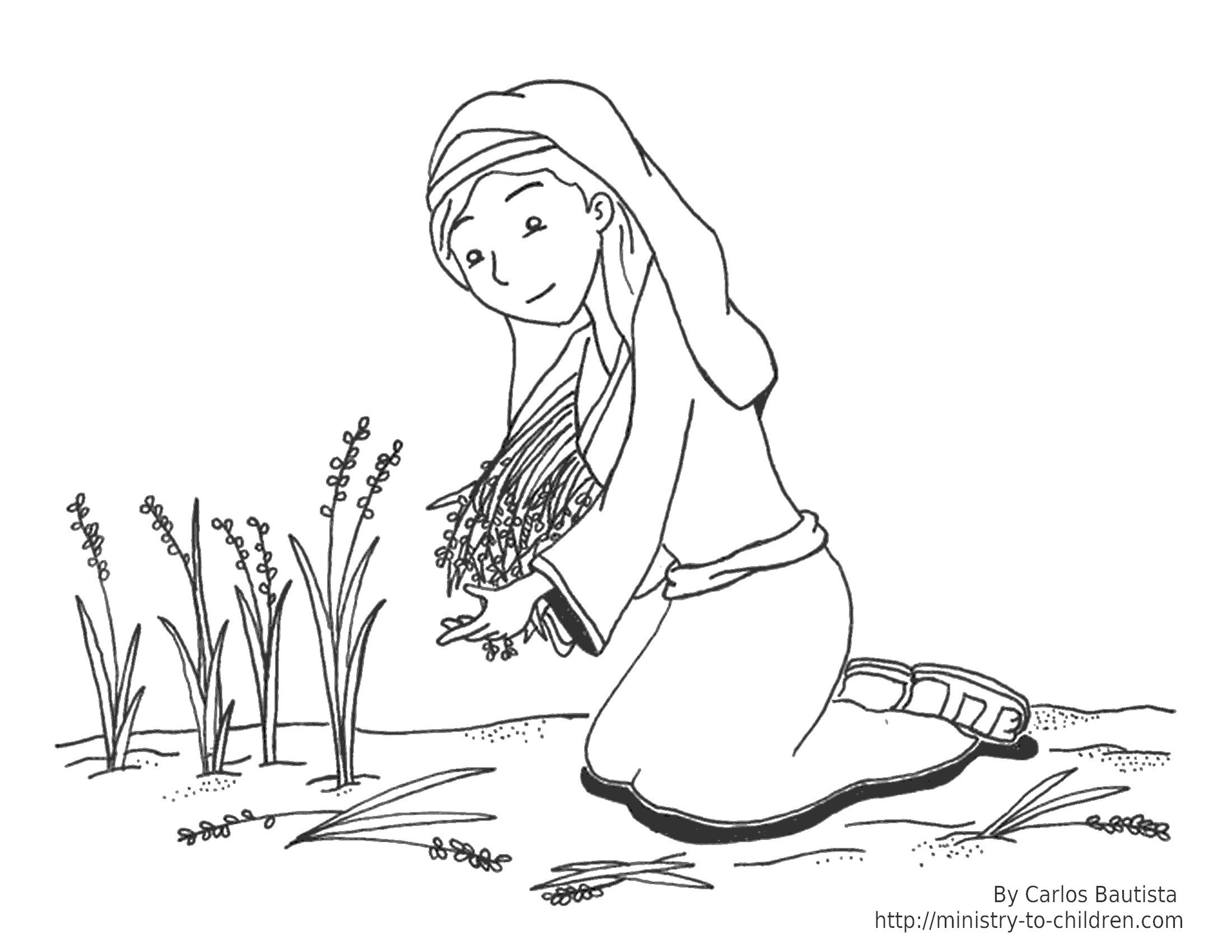Ruth Bible Coloring Pages Ruth And Naomi Coloring Pages Bible
