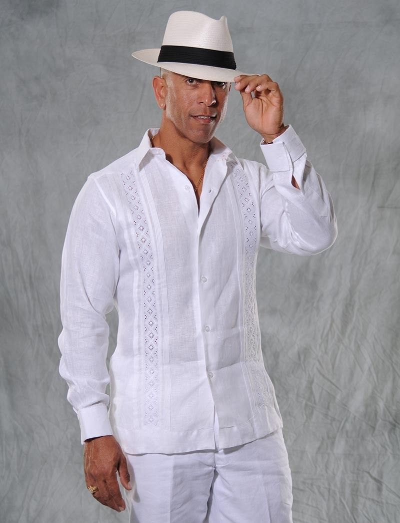 mens white linen pants and shirt - Pi Pants