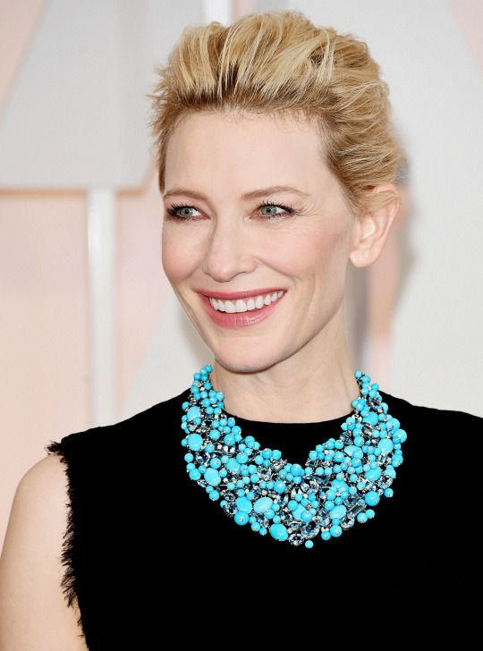 Cate Blanchetts brunette hair at the BAFTAs 2019