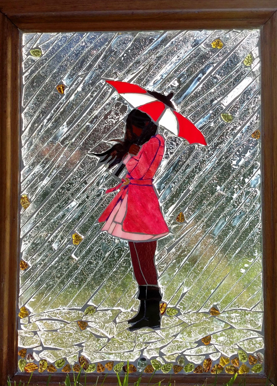 """NOVEMBER RAIN"" Glass on Glass Mosaic... WHY not SUMMER ..."