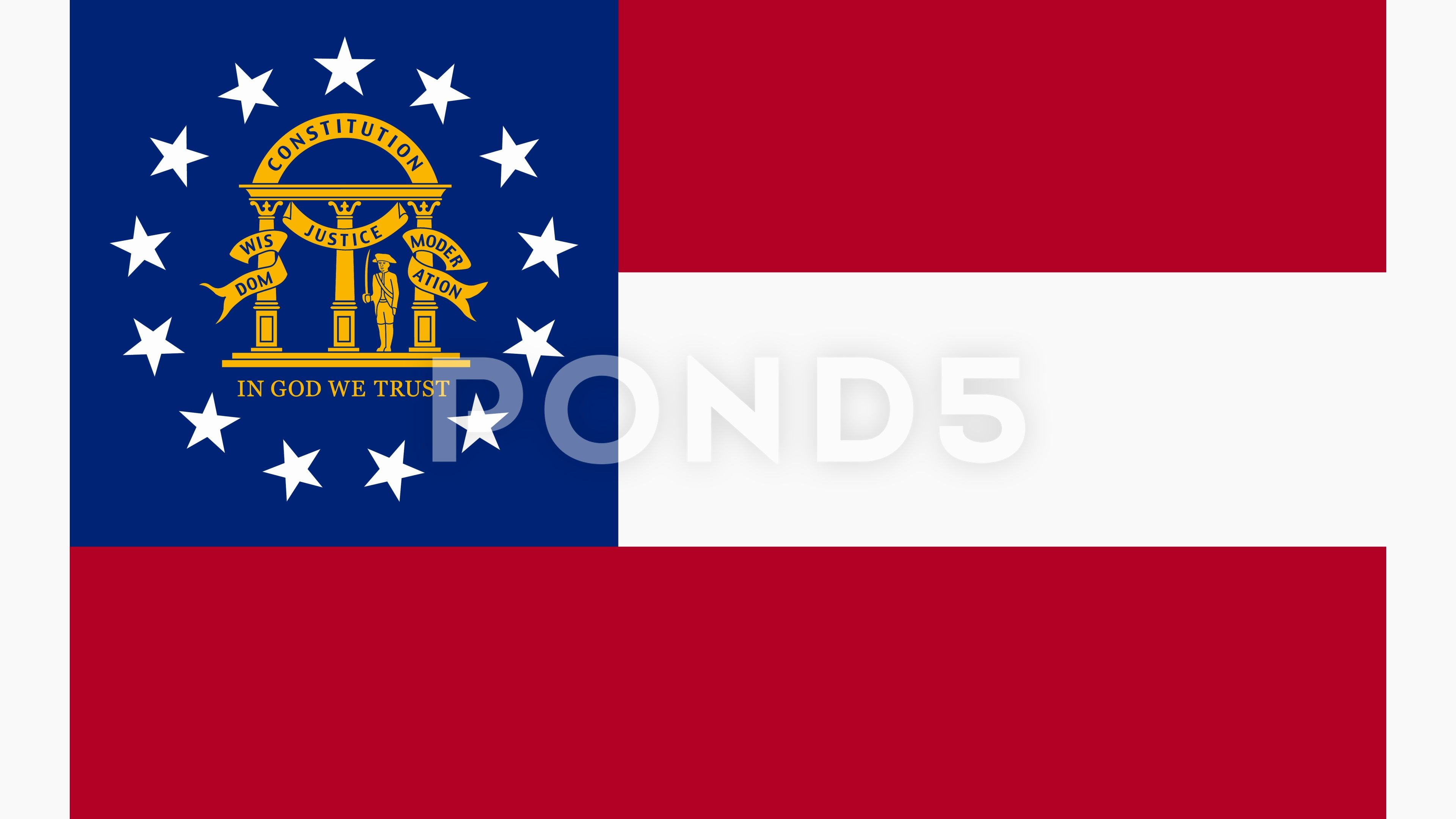 Georgia State Flag Fly In And Fly Out 3d Animation Ad Flag State Georgia Fly Georgia State Flag Animation State Flags