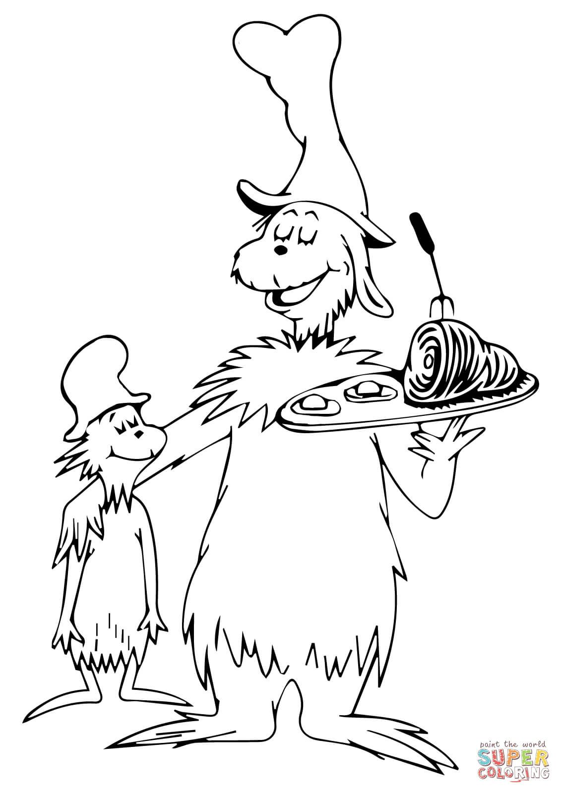Green eggs and ham coloring page Preschool Ideas Dr