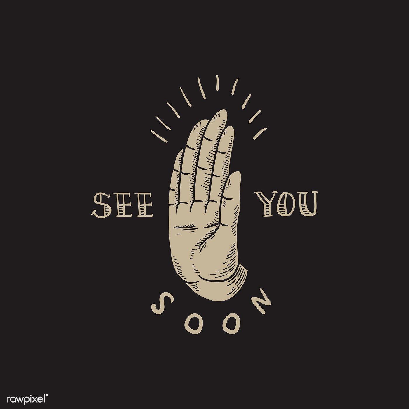 Download Premium Vector Of See You Soon Slogan Hand Comic