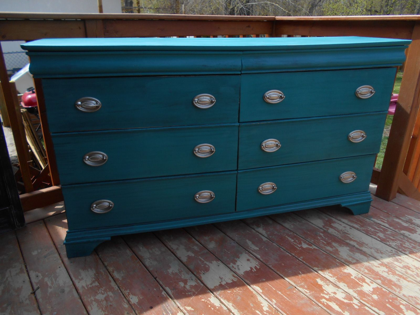 This Sold Wood River S Edge Dresser Was Pretty Beat Up I Painted