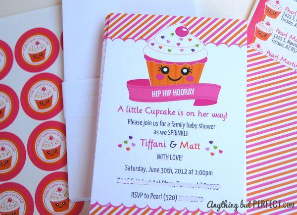 Little Cupcake Baby Shower Invitation