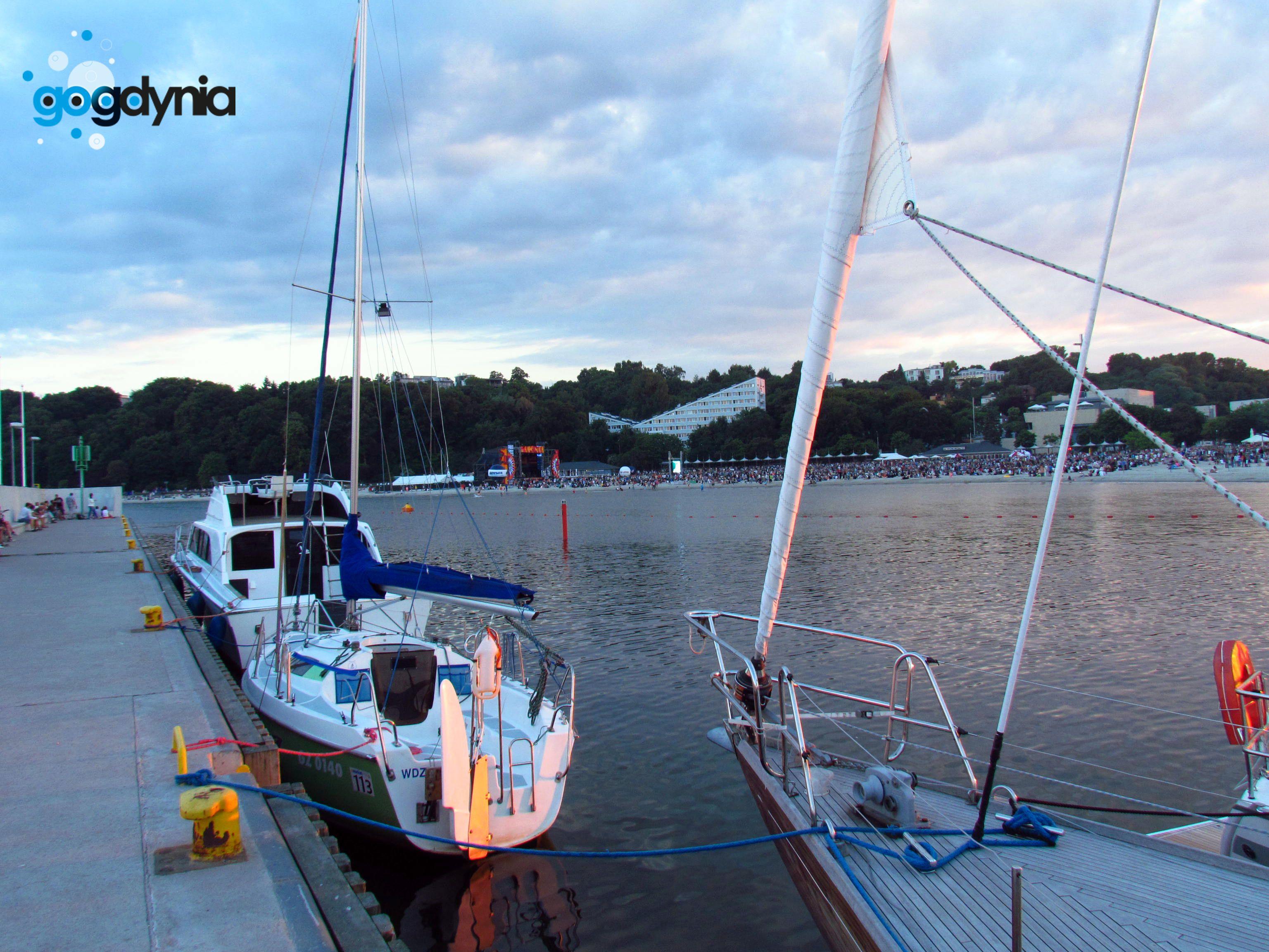 Gdynia, zachód słońca