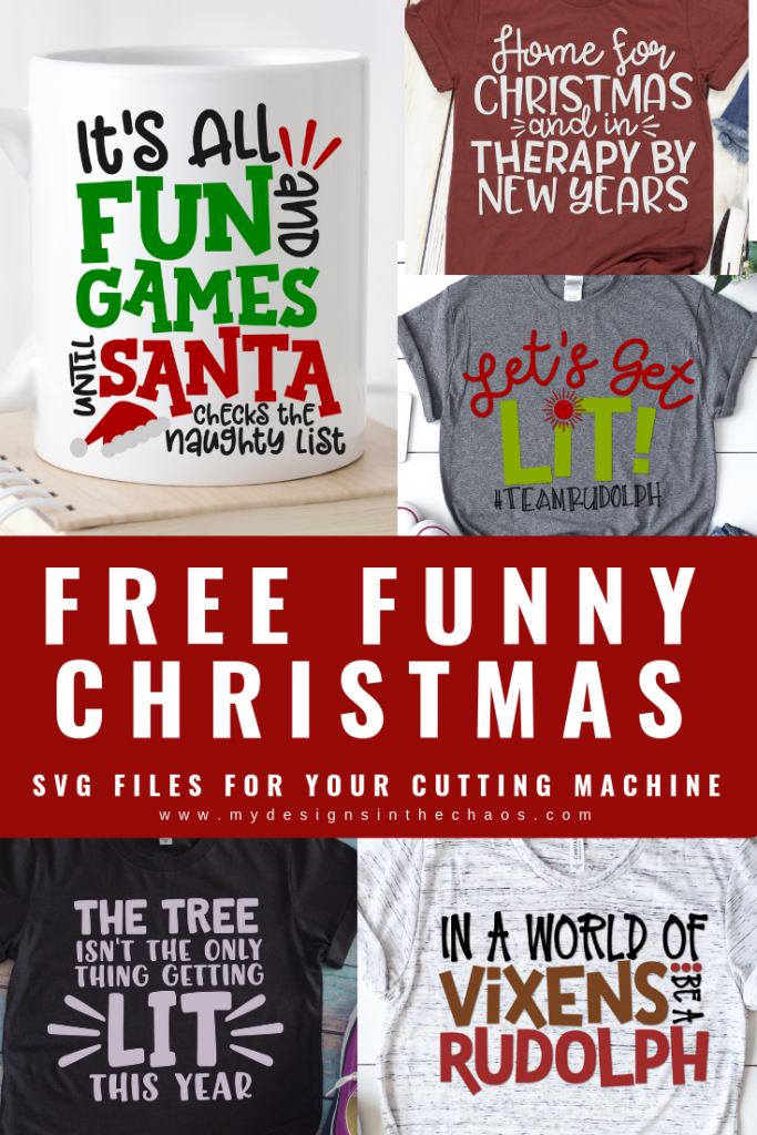 Christmas family matching tee svgs, christmas svg bundle. Free Funny Christmas Svg Designs My Designs In The Chaos Christmas Svg Design Christmas Svg Christmas Humor