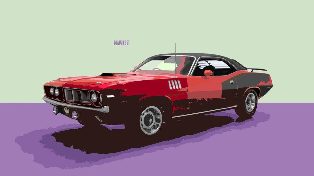 Plymouth Barracuda Muscle Car Art Wallpaper Sports Car Wallpaper Plymouth Wallpaper
