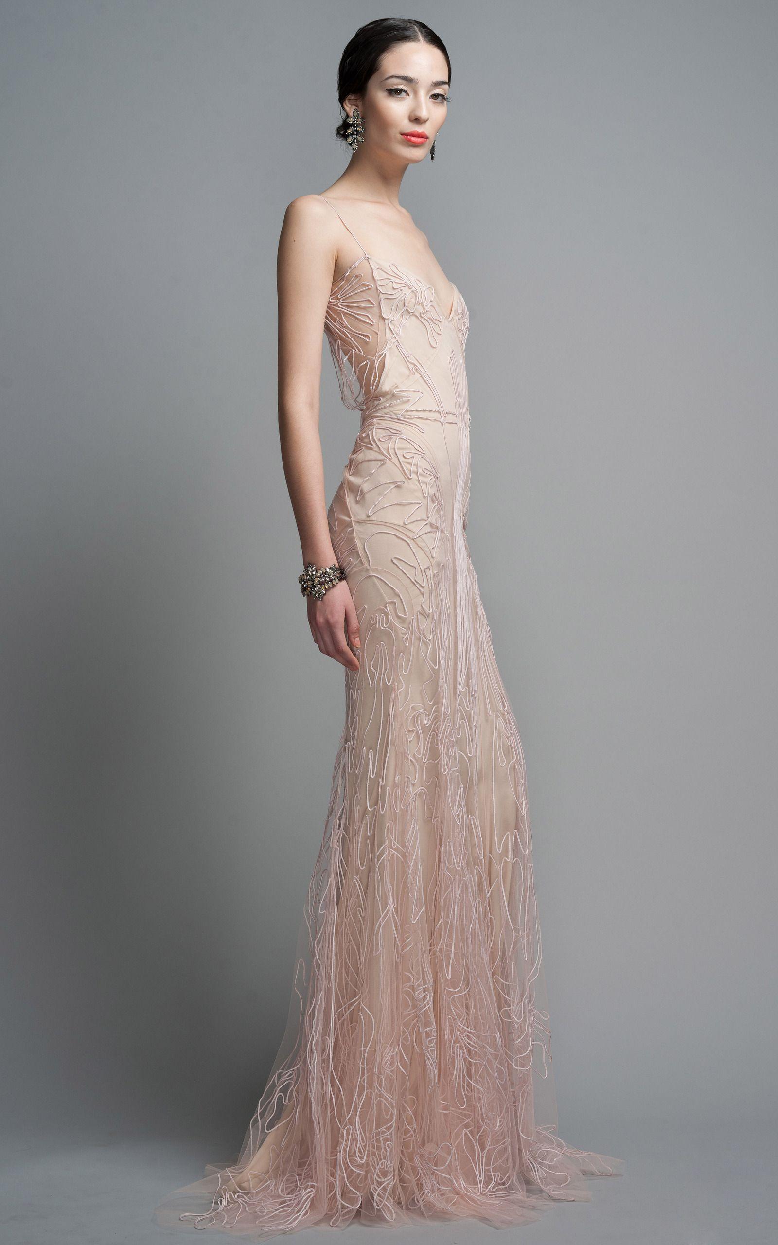 Blush Evening Gown by Zac Posen for Preorder on Moda Operandi   Moda ...