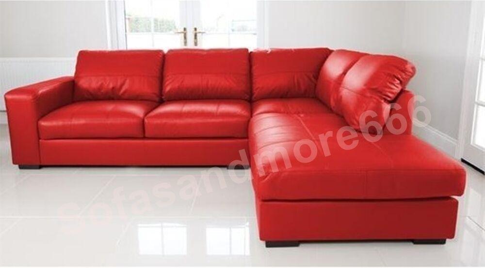 Details about BRAND NEW WESTPOINT BIG CORNER SOFA IN RED ...