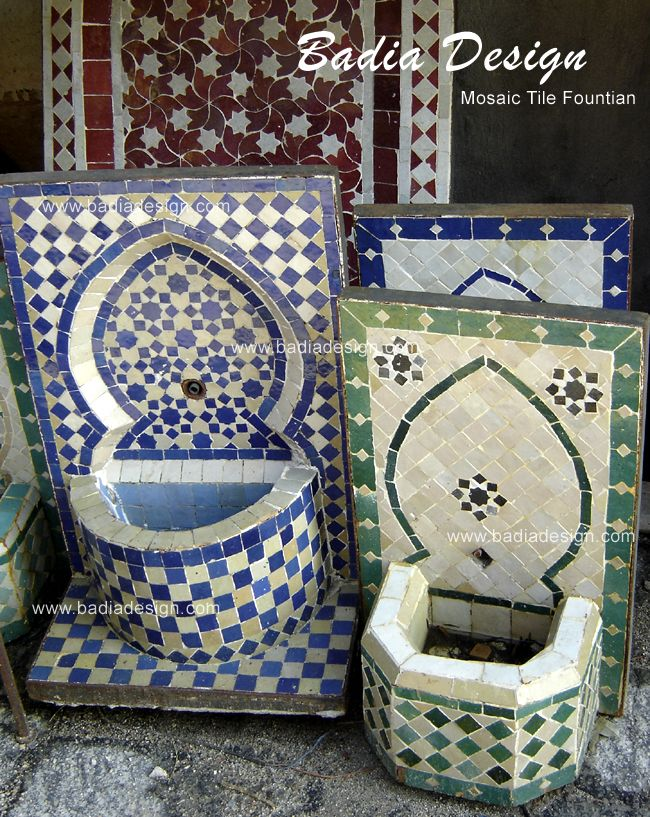Handmade Mosaic Wall Fountain it comes with a Brass Spout ...