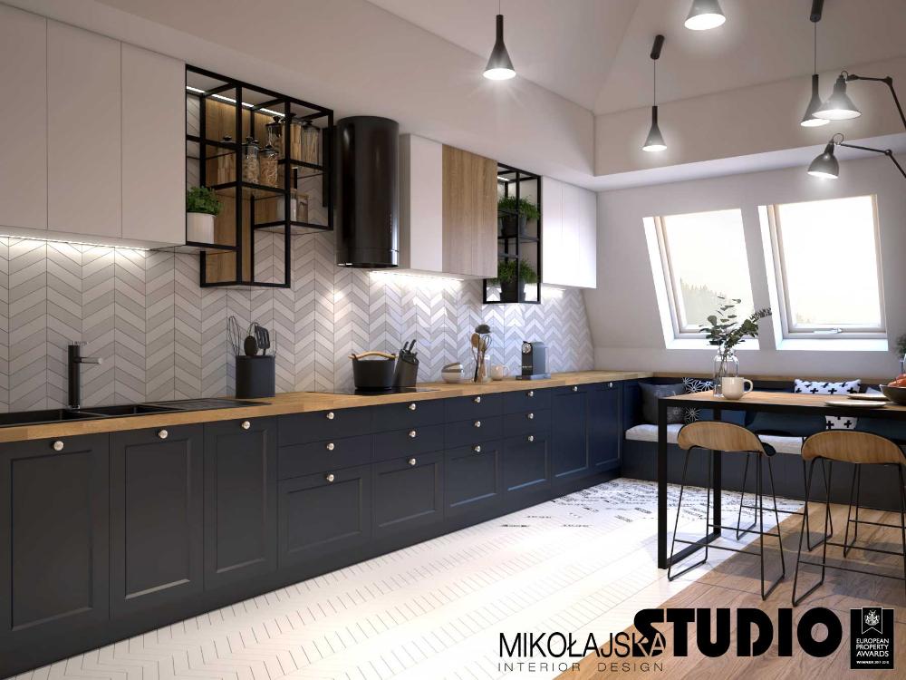 Kuchnia Na Poddaszu Wykorzystanie Przestrzeni Wybor Plytek I Oswietlenia Ih Internity Home Modern Kitchen Design Kitchen Design Kitchen Inspirations