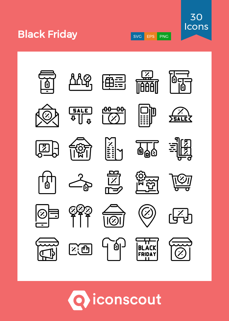 Download Black Friday Icon Pack Available In Svg Png Eps Ai Icon Fonts Icon Black Friday Icon Pack