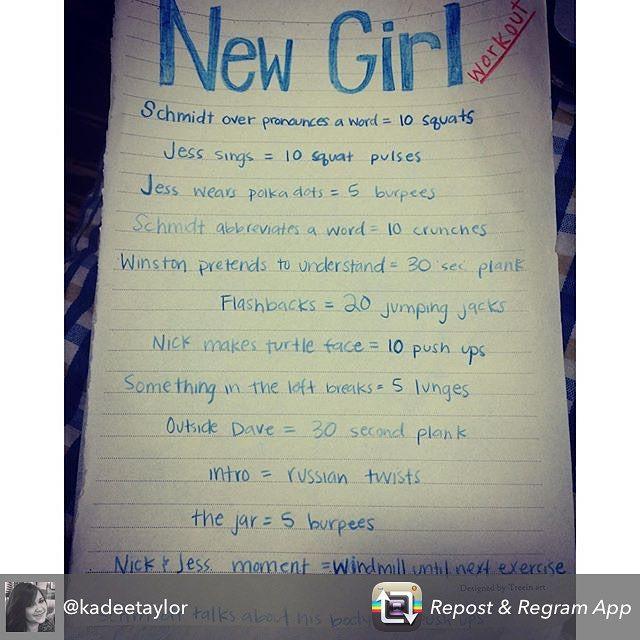 Well done. Getting New Girl fans in shape. Show back in January, so fatten up until then. #NewGirl #season5