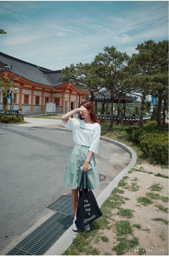Lean Tee   Korean Fashion