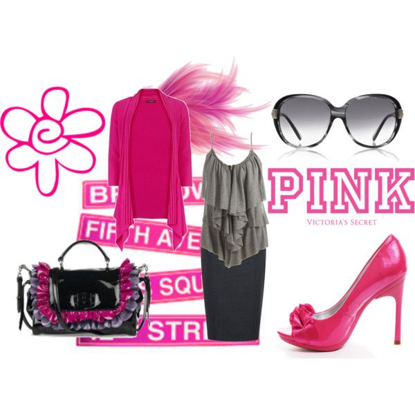 """""""P.I.N.K"""" created by #glo-glo on #polyvore. #fashion #style #Planet Wet Seal"""