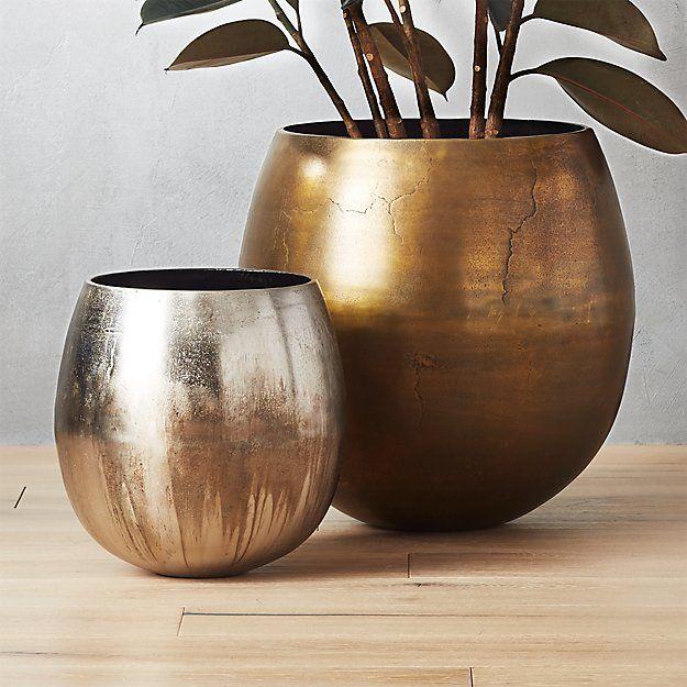 Rough Cast Extra Large Brass Planter Brass Planter 400 x 300