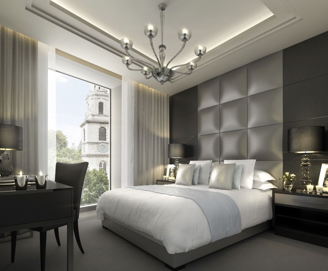 Luxury modern grey bedroom decor | Grey bedroom decor ...
