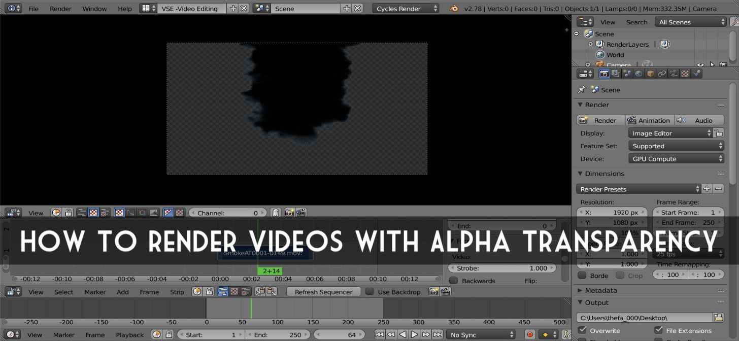 How to Render Videos with Alpha Transparency | Blender Tutorials ...