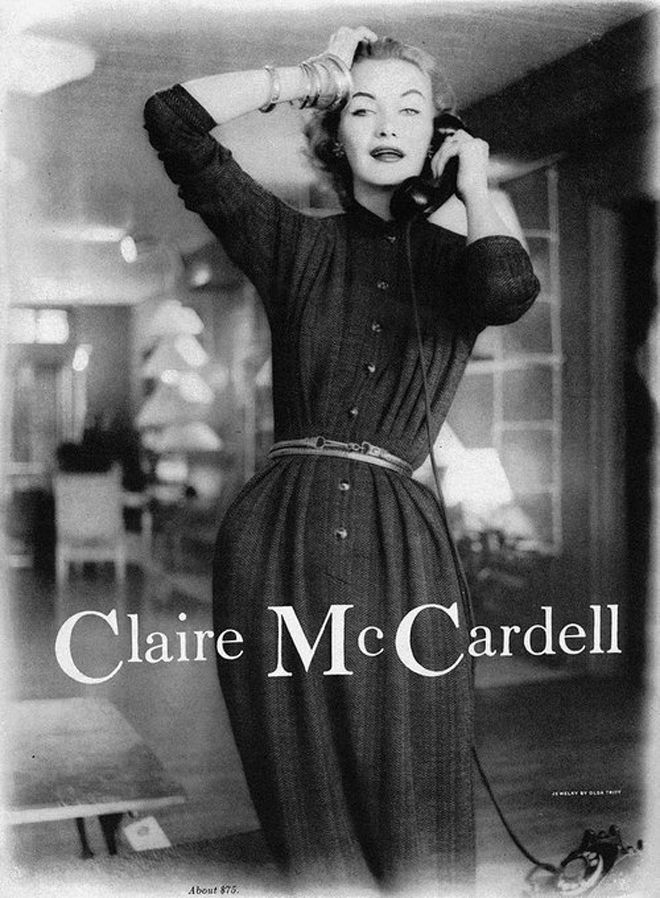 Claire Mccardell History Of Fashion Vol17 The Paraders Blog Claire Mccardell Fashion Vintage Clothing Boutique