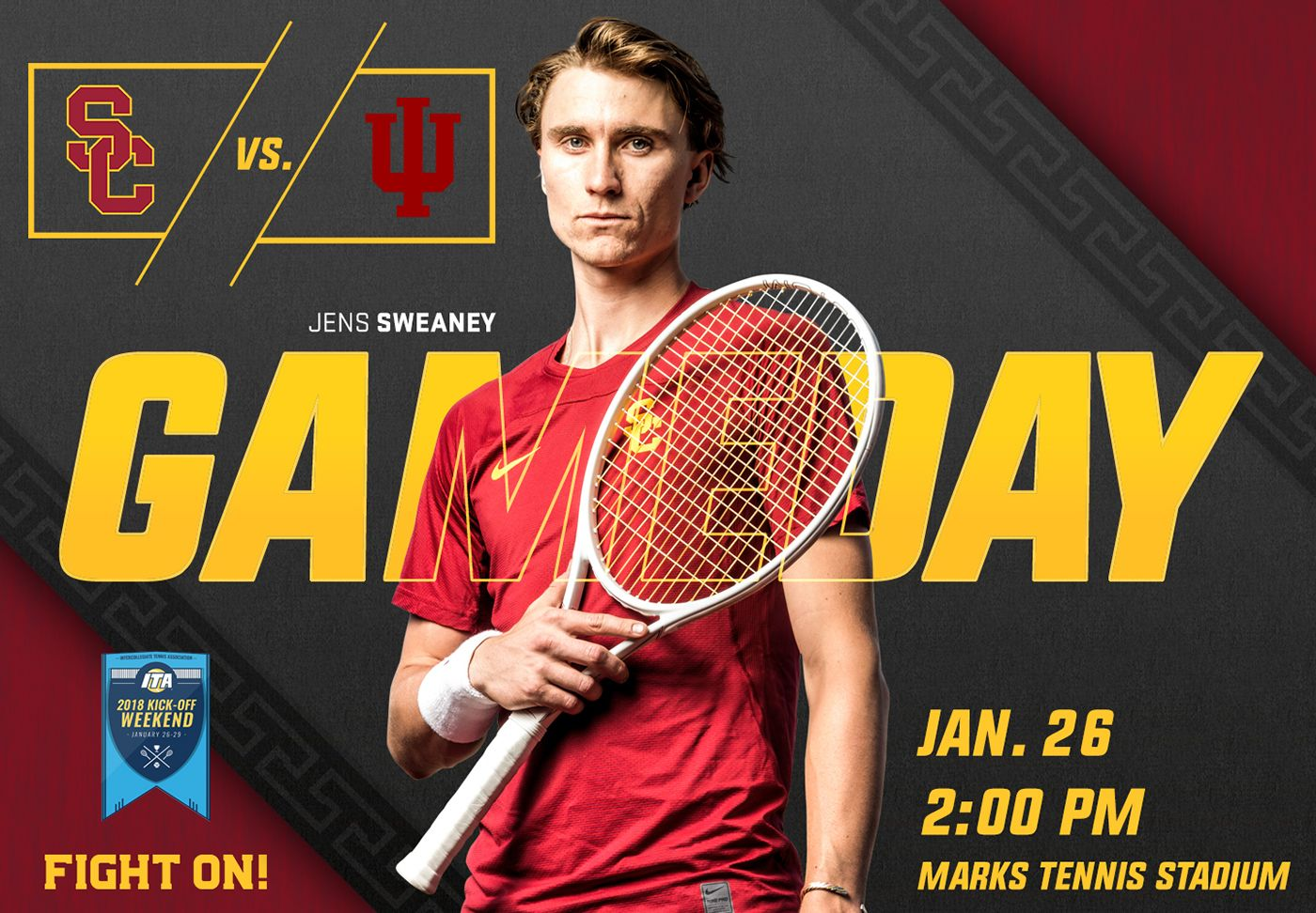 Social Media Templates For Usc Men S And Women S Tennis Teams Graphics Used For Instagram Twitter And Facebook Social Media Template Tennis Social Media
